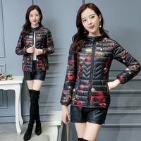 LISYRHJH Winter Jacket Women 2018 Female Ultra Light Parka Coat Padded Jackets Printed Outwear Casual Clothes XL 5XL