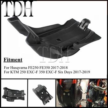 Cubierta protectora negra para motor de placa de deslizamiento de motocicleta para KTM EXC-F 250 350, 6 días, HUSQVARNA FE 250 350 2017-2019