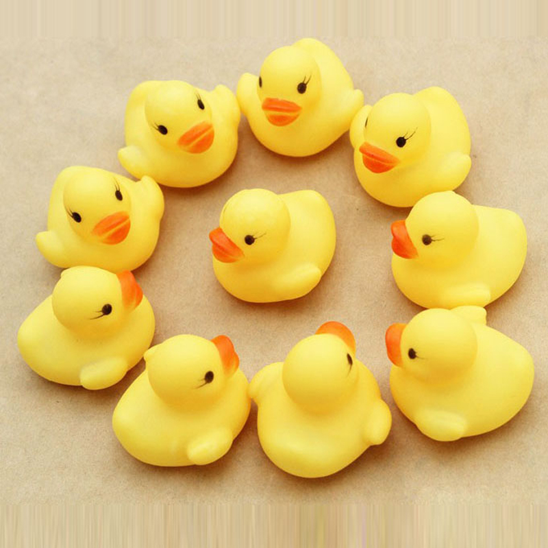 12pcs/set Baby toy Cute Small yellow duck Bath toys shower water ...