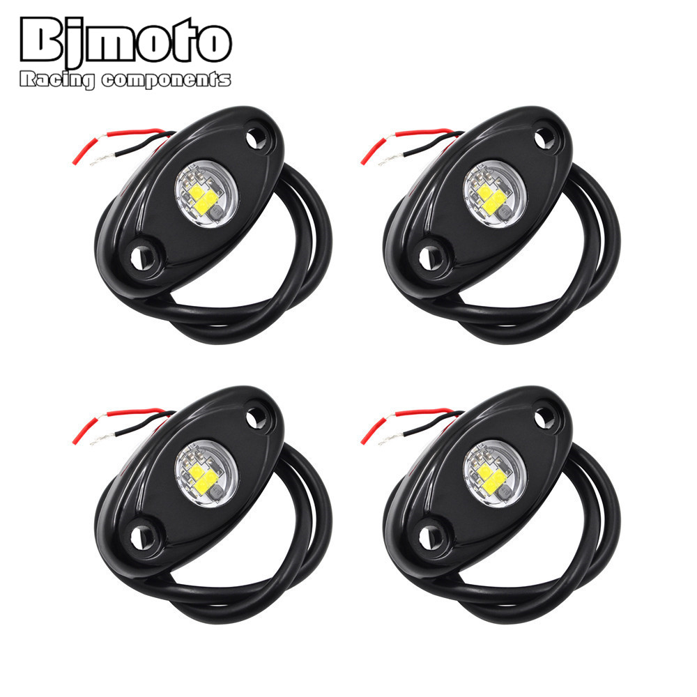 4 Pcs Universal 9W LED Rock Light Flood Beam LED Light 12V 24V 4x4 Under Body Trail Rig Light SUV ATV Boat Car Decorative Light 4 pcs led car wheel lights 12v tire light 3 mode 24v car light lamp