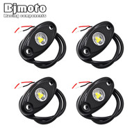 4 Pcs Universal 9W LED Rock Light Flood Beam LED Light 12V 24V 4x4 Under Body