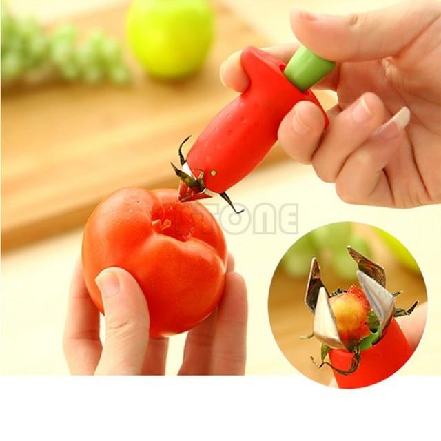 Free Shipping  Kitchenware Tomato Stalks Fruit Strawberry Knife Stem Remover Strawberry Slicer Strawberry Huller