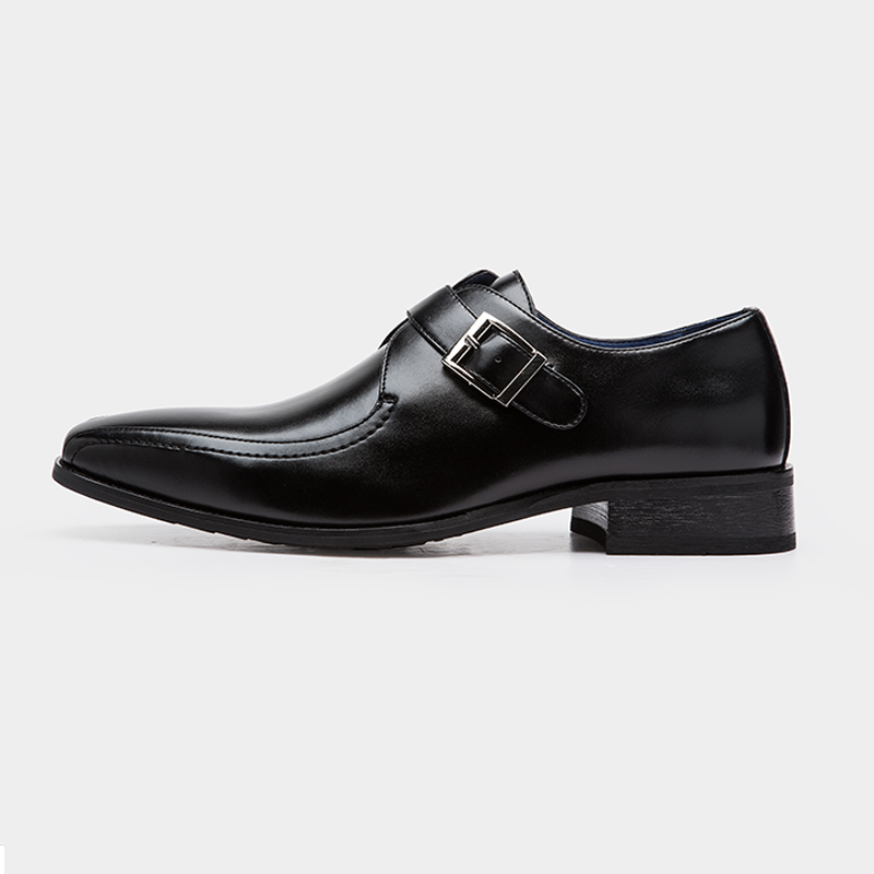 Vestido Casual Mens Genuíno Noiva Cinta Couro Hombre De Monge Marca Único Sapatos Plana Black brown Designer Luxo Formais Zapatos Fivela B50wp0rq1