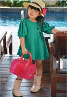 Новые летние зеленое платье для Обувь для девочек один год рождения Одежда для младенцев Детские прелестные модные туфли Платья для женщин