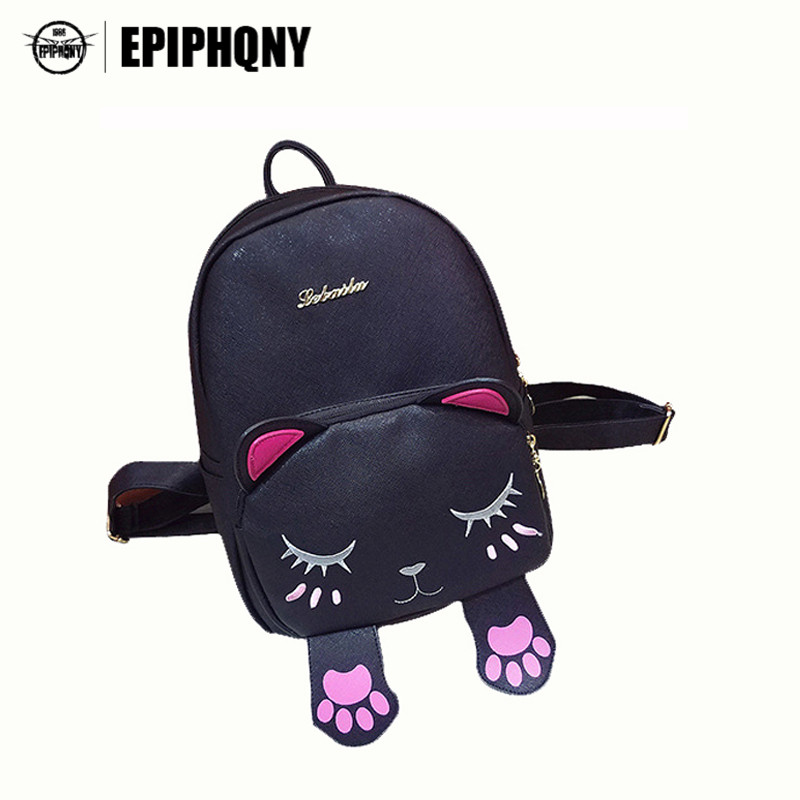 Товар Cute Cat Backpack Funny Kawaii PU Leather School Backpacks Bag ... de51fc7908083