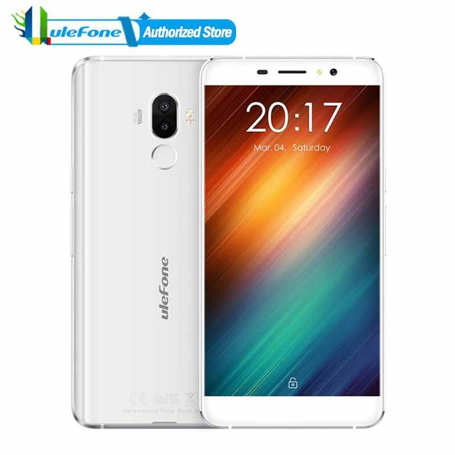 Ulefone S8 Android 7.0 Smartphone Fingerprint Id 13.0MP Dual Rear Cameras 5.3 inch MTK6580 Quad Core WCDMA 3G Mobile Phone