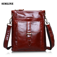 Brand Vintage Casual 100% Real Genuine Leather Cowhide Men Small Messenger Bag Shoulder Cross Body Ipad MIni Bag Bags For Man