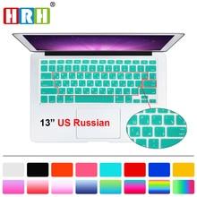 HRH Slim US Russian Keyboard Film protector for Macbook Air Pro Retina 13″ 15″ 17″ Laptop Skin Cover for Mac book 13 15 Gel case