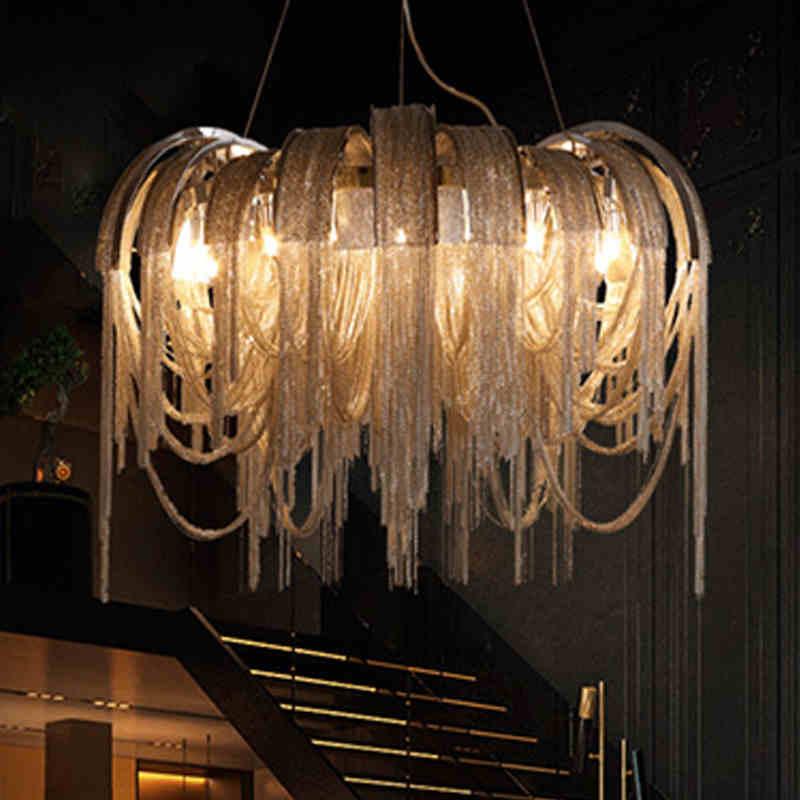 Yeni Tasarım İtalya Alüminyum Zincir Püskül Kolye Işıkları - İç Mekan Aydınlatma - Fotoğraf 3