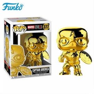 Image 4 - Offizielle FUNKO POP Marvel Die 10th Anniversary Black Panther Eisen Mann Loki Groot Vinyl Puppe & Action Figur Spielzeug Geburtstag geschenk