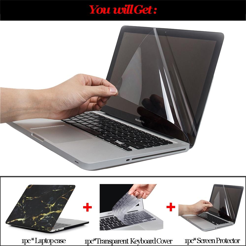 Marble Texture Laptop Case for Macbook Air Pro Retina 11 12 13 15 - Նոթբուքի պարագաներ - Լուսանկար 2