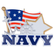 Military(navy) polyresin personalized christmas ornament & gifts