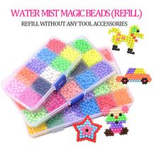 6000pcs DIY Magic beads Animal Molds Hand Making 3D Puzzle Kids Educational Toys for Children Spell Replenish