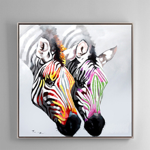 100% Hand Painted Abstract Zebra Head Art Painting On Canvas Wall Art Wall Adornment Pictures Painting For Live Rooms Home Decor 100% hand painted abstract morden feathers art oil painting on canvas wall art wall adornment pictures for live rooms home decor