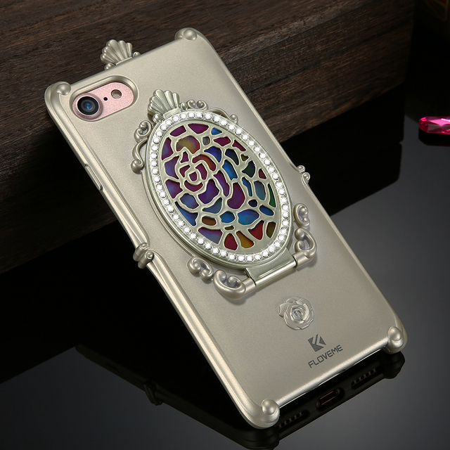 Makeup Mirror Glitter Rhinestone Phone Cases For iPhone