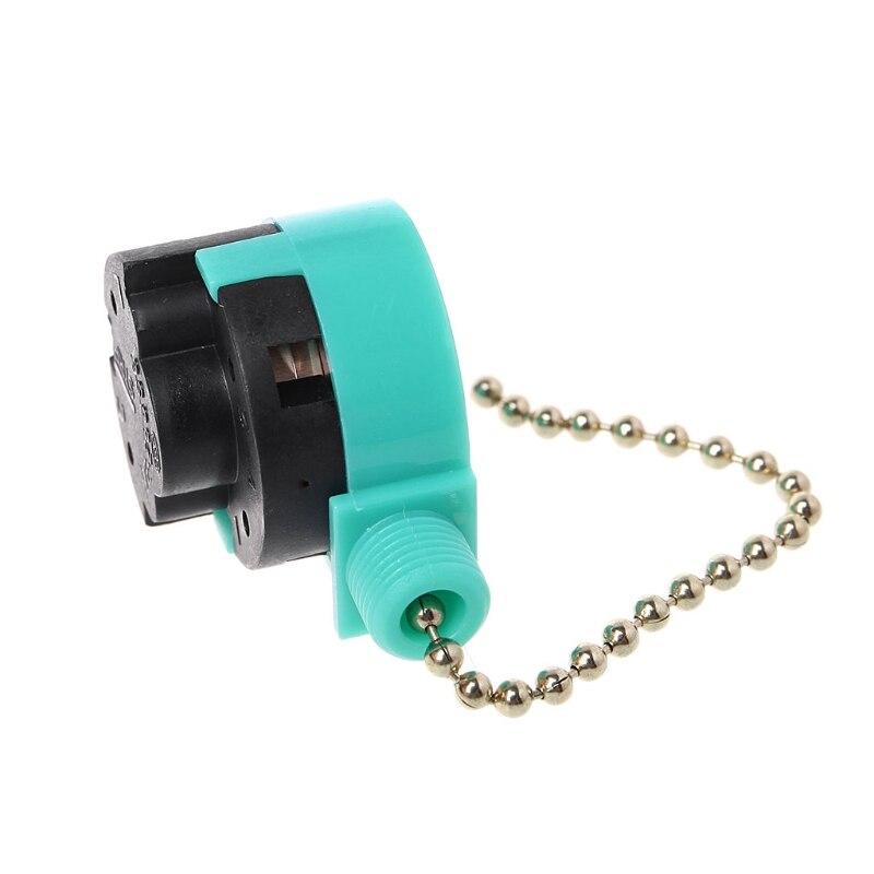 3A/250V 6A/125V Zipper Switch 3 Speed Pull Chain Control Nickel Fan Wall Switch Drop Ship No28