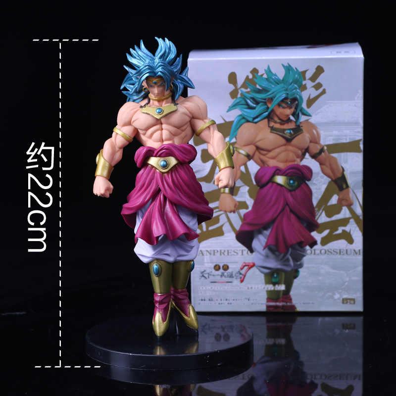 2018 Dragon Ball Z Budokai Tenkaichi Scultures GRANDE Modelagem 7 Broly Figura Collectible Mascote Brinquedos 100% Original