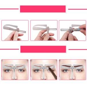 Image 5 - 1 zestaw regulowana pozycja regulacja brwi Eye brow Measure Balance Extension linijka kształt wzornik maszynka do tatuażu szablon praktyki