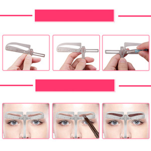 Image 5 - Règle ajustable pour les sourcils, 1 ensemble, mesure pour les yeux, en forme dextension, pochoir, Machine pour tatouage, modèle pratiques
