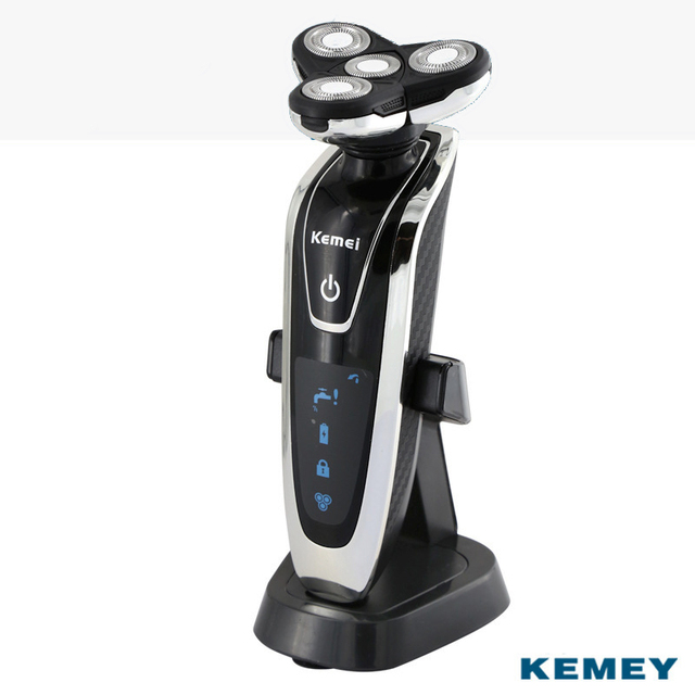 Kemei 4D Electric Shaver For Men Rechargeable Shaving Machine Waterproof Beard Shaver