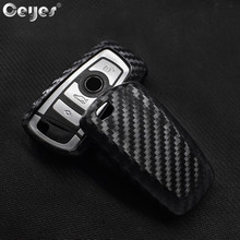Ceyes Car Styling Auto Carbon Fiber Key Cover Shell Case For Bmw New 1 3 4 5 6 7 Series F10 F20 F30 Smart 3 Buttons Accessories