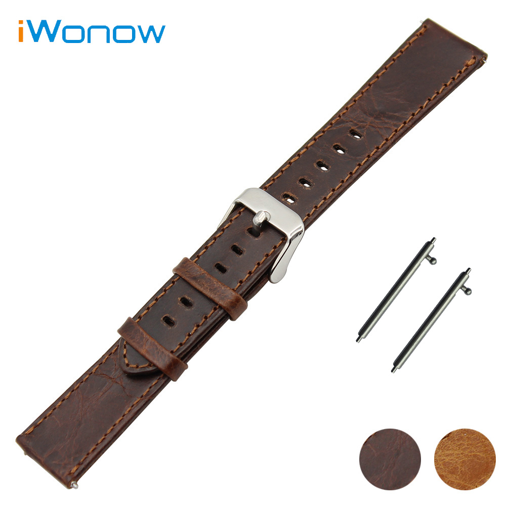 Genuine Leather Watch Band 20mm 22mm for Mido Quick Release Strap Stainless Steel Pin Buckle Wrist Belt Bracelet Brown genuine leather watch band 22mm for pebble time steel stainless pin buckle strap quick release wrist belt bracelet black brown