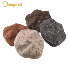2019 Vintage Baby Hat for Girls Photography Props Autumn Winter Baby Girls Hat Infant Accessories All Match Cap Kids Beret 1 PC 2019 vintage baby hat for girls photography props autumn winter baby girls hat infant accessories all match cap kids beret 1 pc