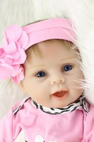 NPK 22 Inch 55cm Soft Silicone Handmade Reborn Baby Girl Dolls Realistic Looking Newborn Baby Doll Toddler bebe Birthday Gift