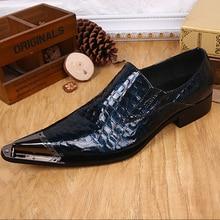Christia Bella Brand Plus Size New Men Shoes Genuine Leather Business Formal Dress Shoes Party Wedding Men Oxfords Flats Shoes