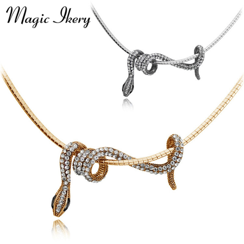 Magic ikery gold color long animal snake pendants necklace fashion magic ikery gold color long animal snake pendants necklace fashion jewelry for women statement party jewelry mky2965 in pendant necklaces from jewelry aloadofball Choice Image