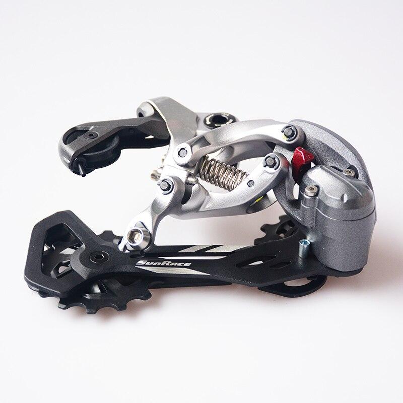 Dérailleur de vélo de route de montagne SunRace dérailleur arrière 12 vitesses Compatible avec Kit 1.0/1.1 attaches 10/11/12 vitesses