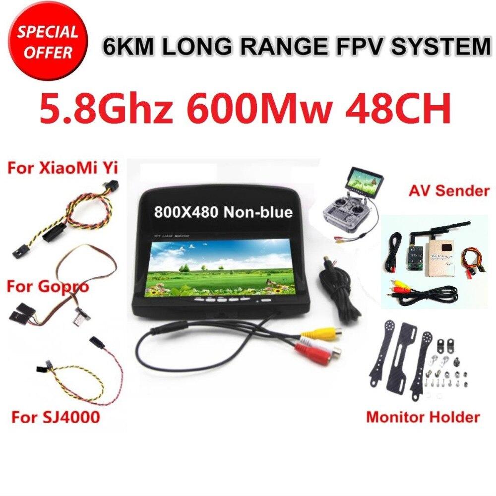Kit FPV système combiné boarnaque 5.8 Ghz transmetteur vidéo et récepteur costume pour SJCAM XiaoMi Yi Sport caméra d'action Gopro 3 4