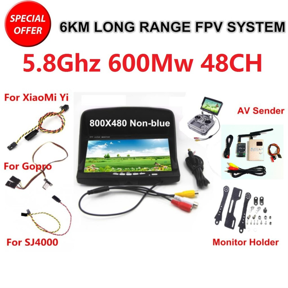 FPV Kit Combo System Boscam 5.8Ghz Video Transmitter and Receiver Suit For SJCAM XiaoMi Yi Sport Action Camera Gopro 3 4