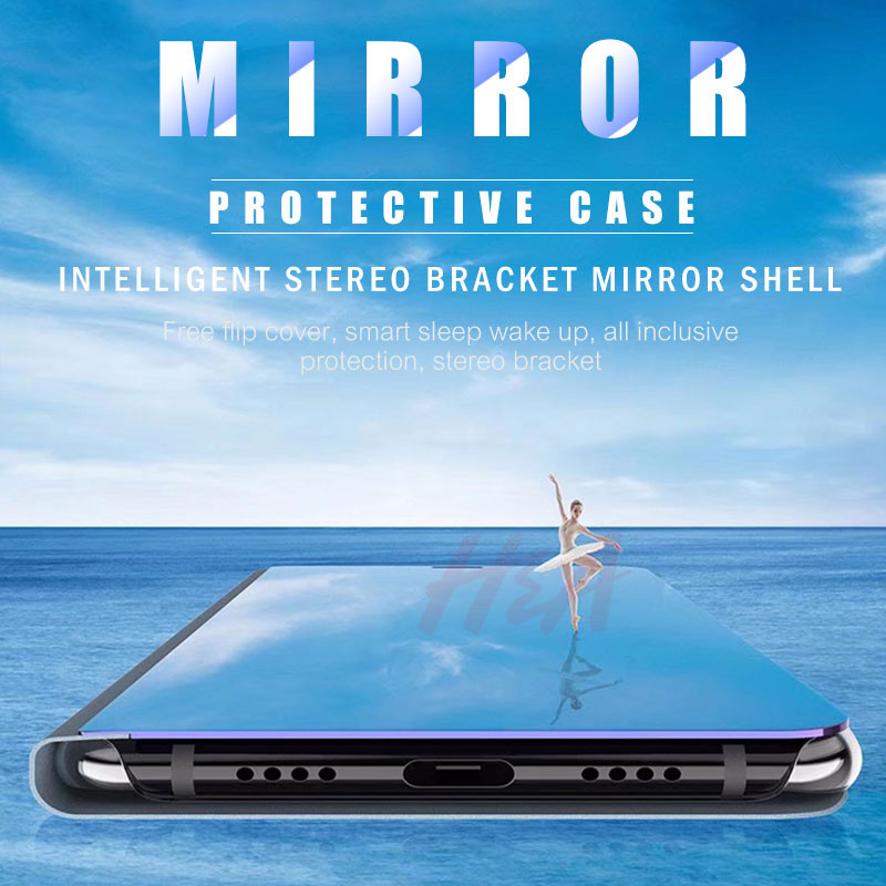 Image 5 - H&A Clear View Smart Mirror Phone Case For Xiaomi Redmi 5 Plus Note 5 5A 4X Flip Cases For Xiaomi 8 SE 6 6X Leather Back Cover-in Flip Cases from Cellphones & Telecommunications