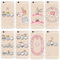 Cute Cartoon Dentist Dental Crowned Tooth Phone Case For iPhone 6 6S 6 Plus 6s Plus 5 5S SE 7 7 Plus Transparent Hard Cell Cover