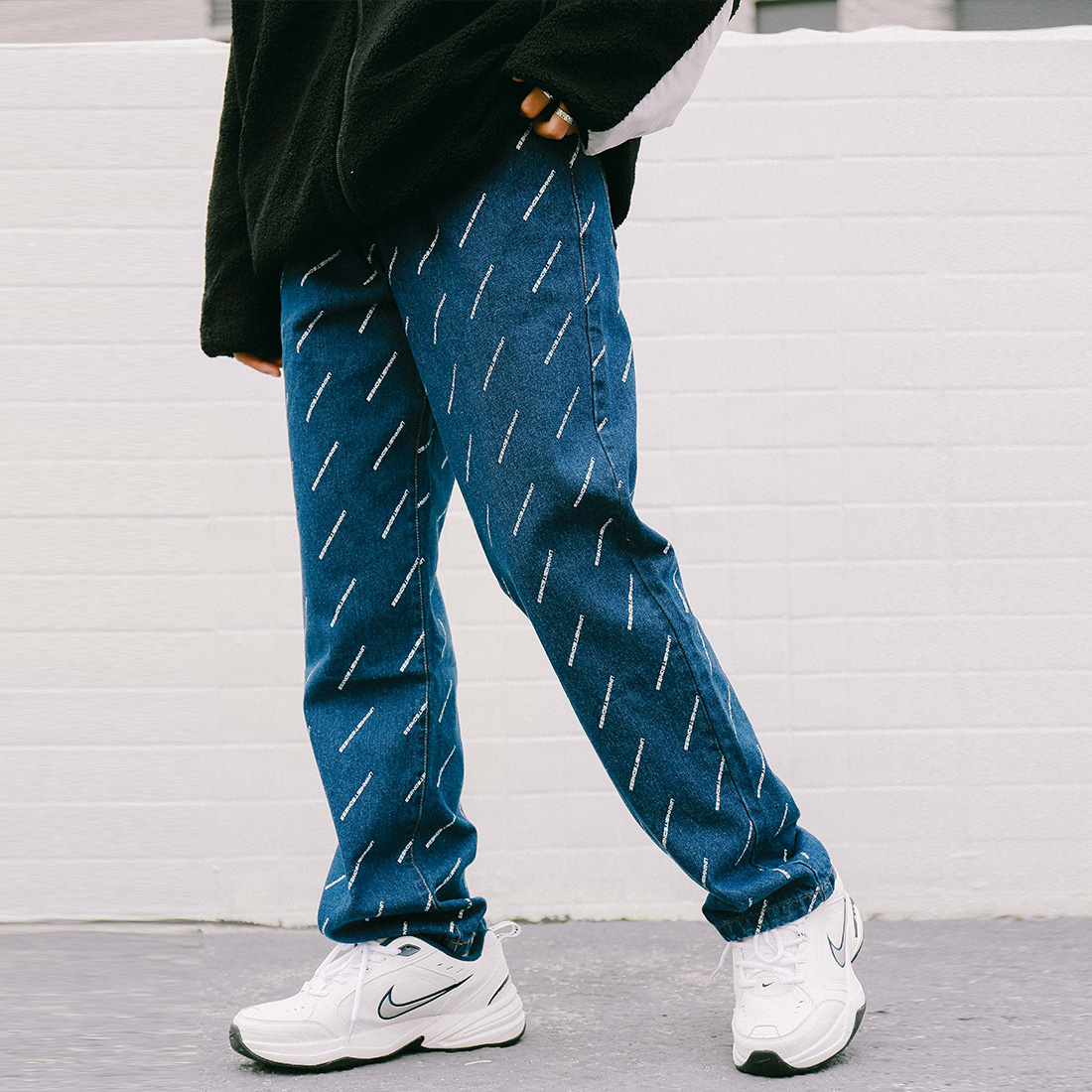 Aelfric Letter Printing Straight Trousers Loose Fashion Casual Jeans Hip Hop High Street Couple Denim Pants 2019 Spring Summer