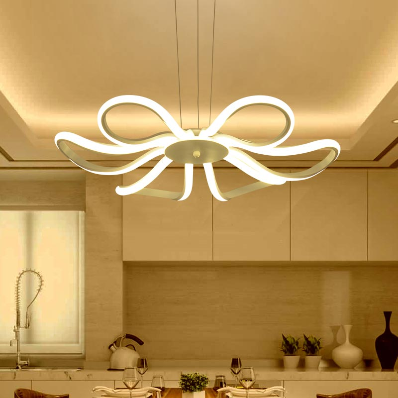 Aliexpress.com : Buy Modern LED Pendant Light Living Room Decor Acrylic  Dimmable Flower Shape Hanging Lamp With Butterfly Lamparas Lustre BLP6186  From ... Part 90