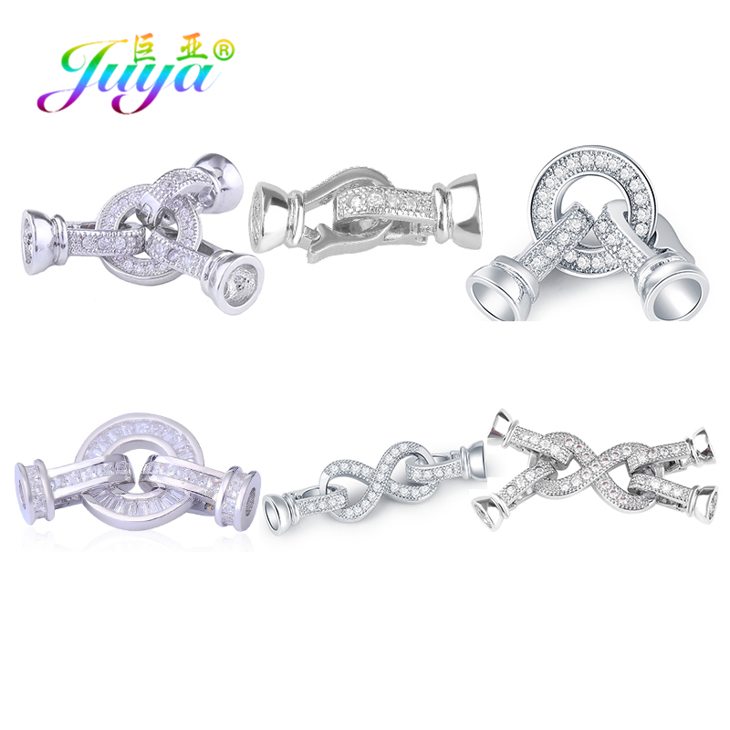 Juya Women's Jewelry Material Pearls Fastener Clasps Accessories For Handmade Pearls Natural Stones Bracelets Necklace Making