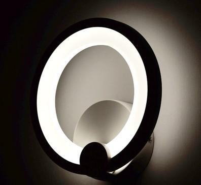 2016 nova moderna de parede de acrílico luzes do corredor LED anel de luz noturna lâmpada de cabeceira moderna fresco frete grátis