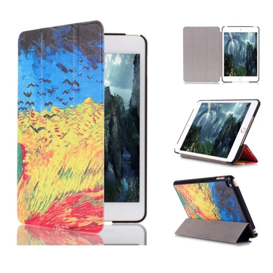 Hot selling 2015 New Painting Pattern Flip Stand Leather Case Cover For iPad Mini 4 Good Looking 1pc
