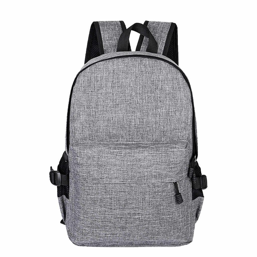 2019 новые стильные мужскиеДеловой Ноутбук Повседневный Рюкзак Студенческая сумка рюкзак для путешествий на открытом воздухе с USB Modische praktische Tasche
