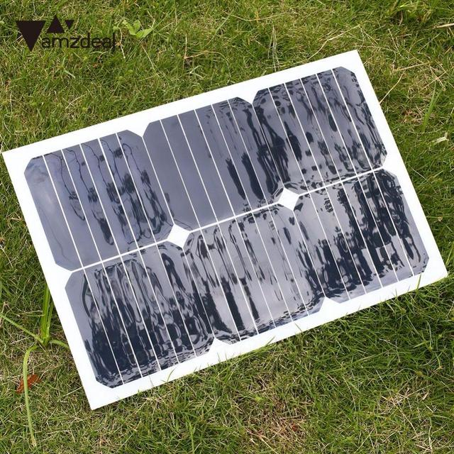 18V 20W Smart Solar Power Panel Car Boat Charger Battery Bank Charger W/Alligator Clip Professional Home Travelling Gift