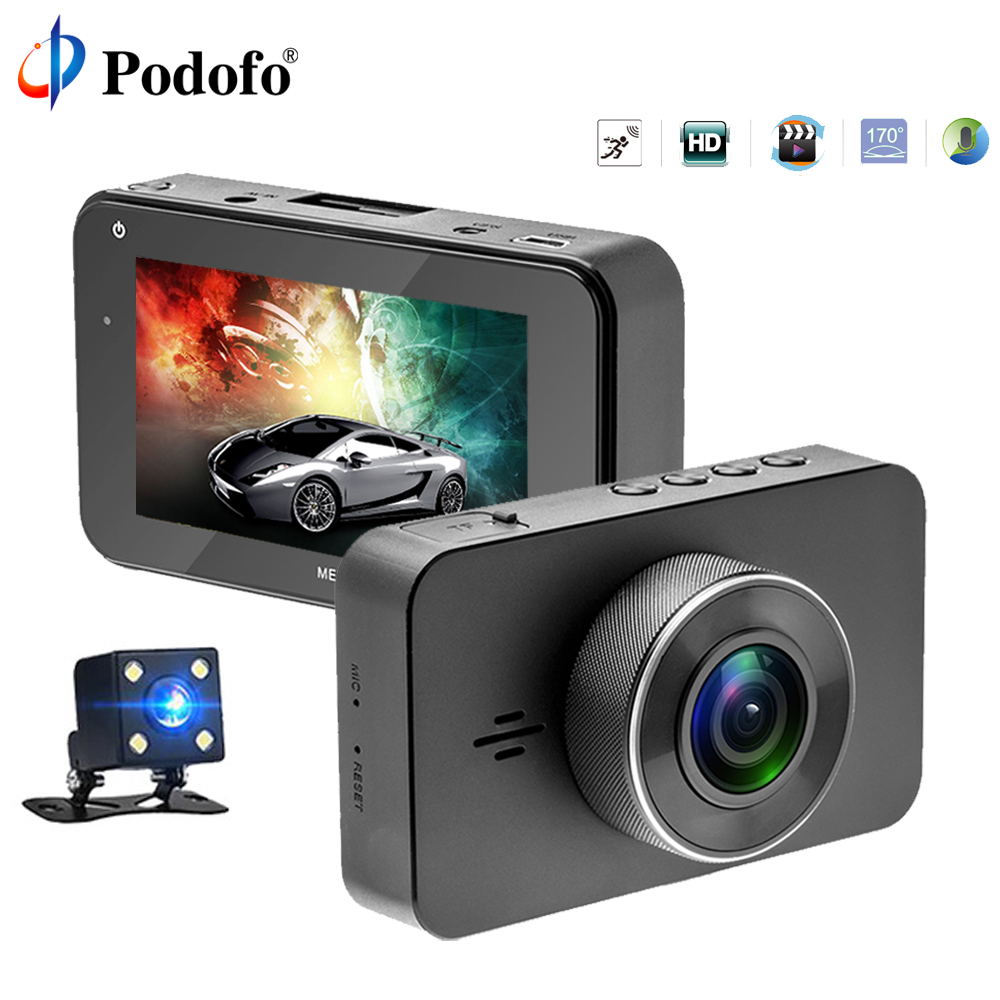 Podofo H9 Super Night Vision Car DVR Camera ADAS/LDWS FHD 1296P/1080P 3