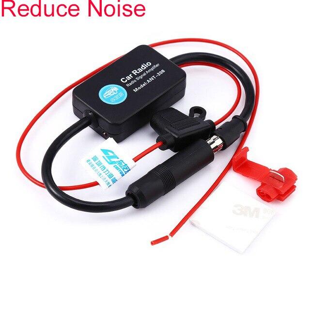 Universal Fit 12 V Voiture Automobile Radio Signal Amplificateur Auto FM/AM Antenne Booster pour RV Marine VOITURE Véhicule bateau FM Amplificateur