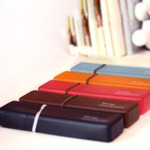 Korea stationery high quality soft jelly color transparent pencil case storage box glasses box