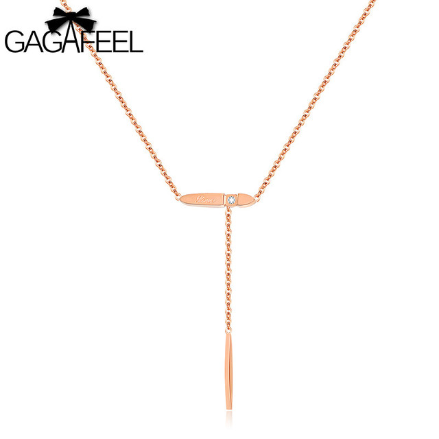 GAGAFEEL Collarbone Chain Drop Necklace Long Geometry Necklaces