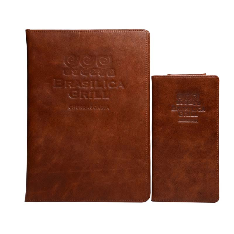 50 Pcs/lot Geunine Leather Restaurant Menu Cover Beer Wine List Folder Accept OEM Order Can Print Your Own Order High Quality