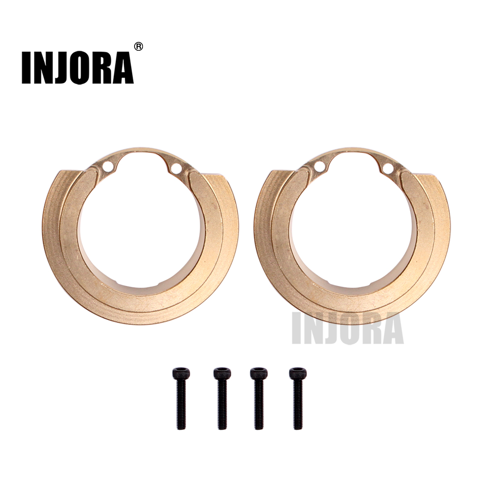 INJORA 2PCS Brass Counterweight Balance Weight For 1:10 RC Crawler Traxxas TRX-4 TRX4 82046-4