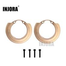 INJORA 2PCS Portal Brass Counterweight Balance Weight for 1:10 RC Crawler Traxxas TRX 4 TRX 6