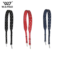 WDPOLO New Rivet Deign Women Handbag Strap Super Chic Lady Bags Belts Fashion Bags Parts Easy